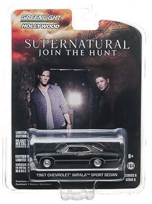 Image of   Supernatural Automodell - Chevrolet Impala Sedan 1967 (1/64) Model sort