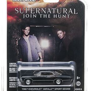 Supernatural Voiture Miniature - Chevrolet Impala Sedan 1967 (1/64) Model noir