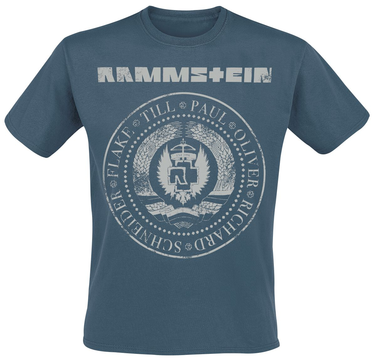 Image of   Rammstein Est. 1994 T-Shirt blå
