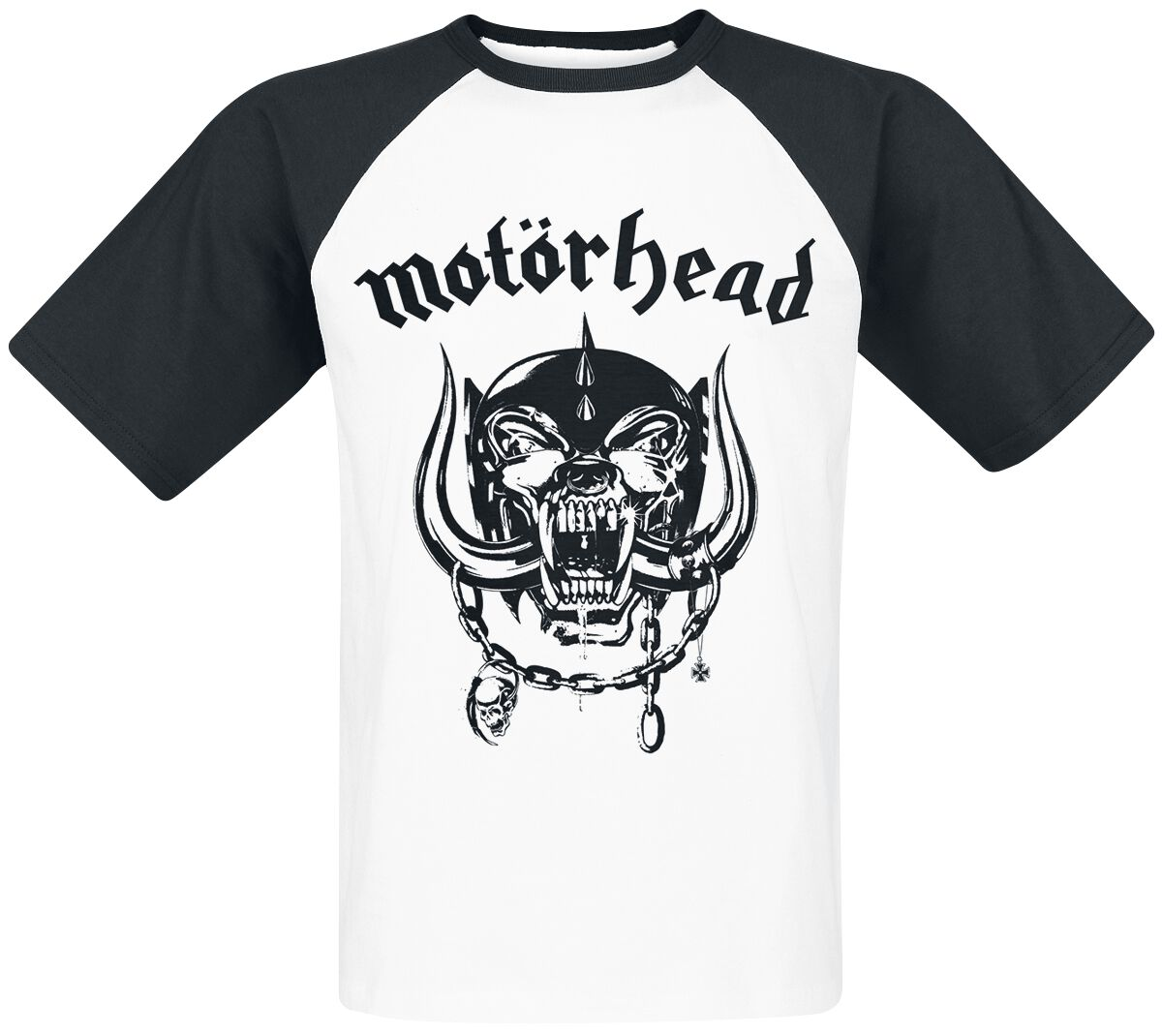 Image of   Motörhead Everything Louder T-Shirt hvid-sort