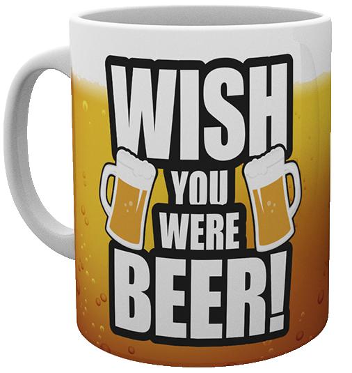 Wish you were beer! - - Mug - white