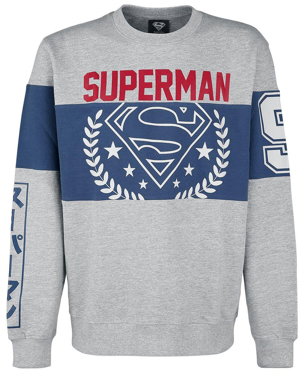Merch dla Fanów - Bluzy - Bluza Superman Logo - Tripanel Bluza odcienie szarego/granatowy - 337613