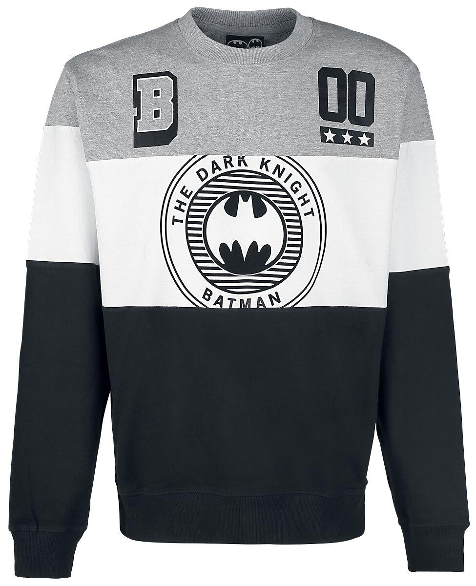 Merch dla Fanów - Bluzy - Bluza Batman Logo - Tripanel Bluza czarny/biały/odcienie szarego - 337615