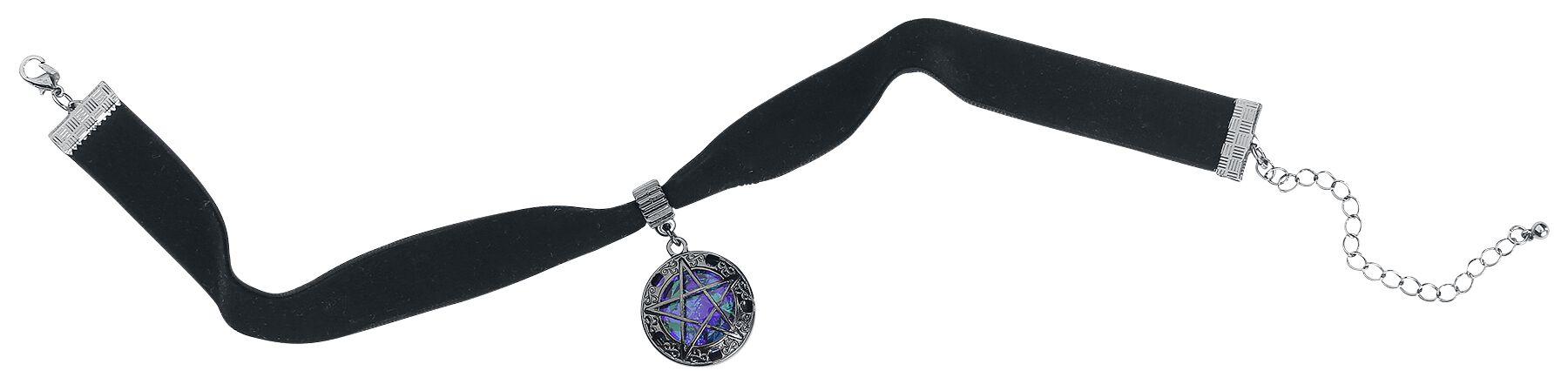 Image of   Blackheart Pentagram Choker Halsbånd Standard