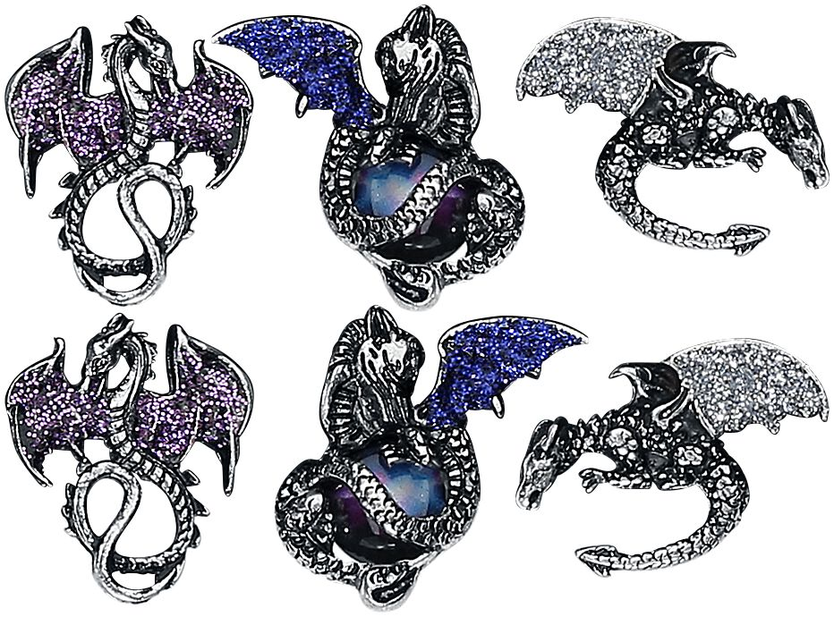 Image of   Blackheart Dragon Earrings Ørestik sæt Standard