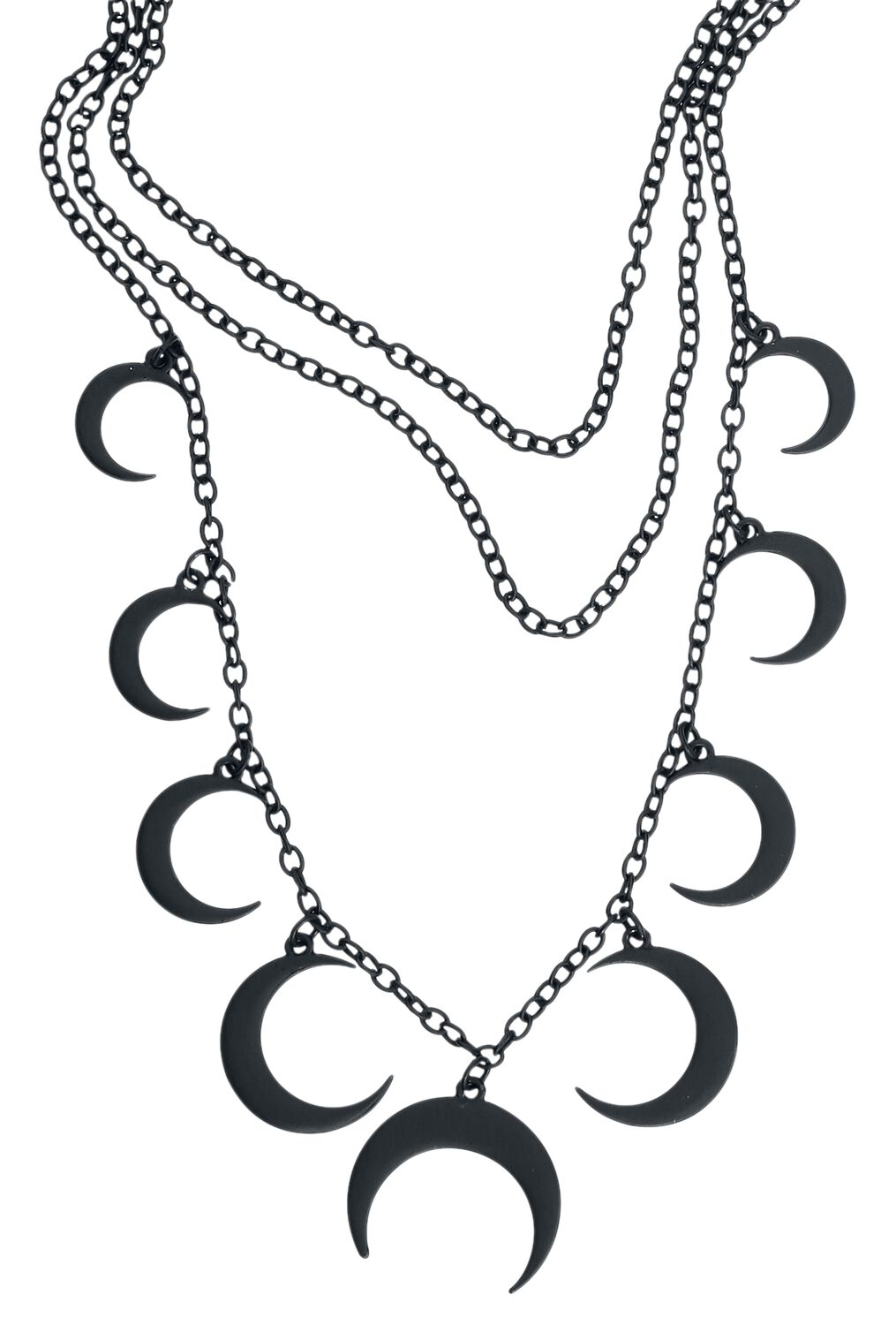 Image of   Blackheart Moon Necklace Halskæde sort
