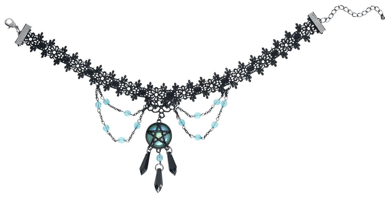 Image of   Blackheart Lace Pentagram Choker Halsbånd Standard