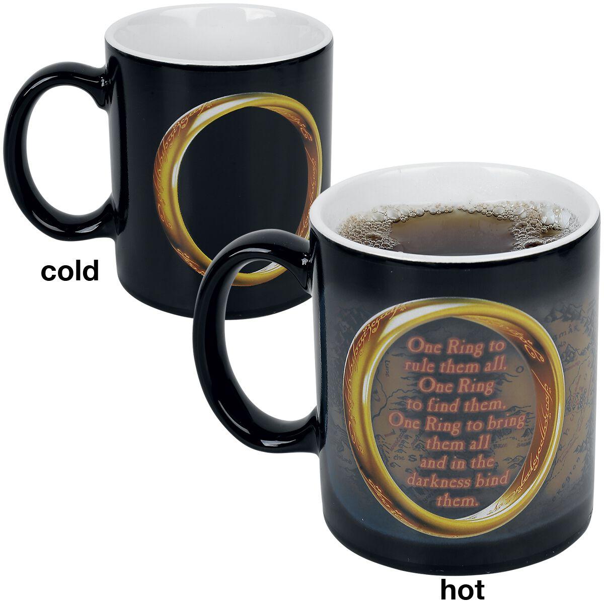 Image of   Ringenes Herre One Ring - Heat Change Mug Krus hvid