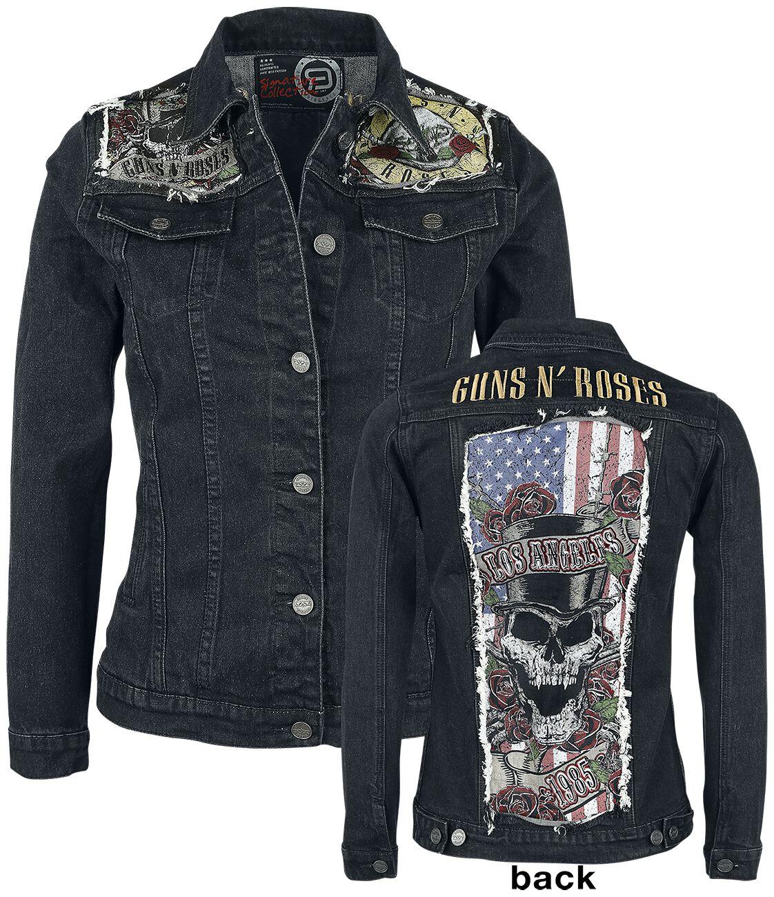 Image of   Guns N' Roses EMP Signature Collection Girlie jeansjakke sort