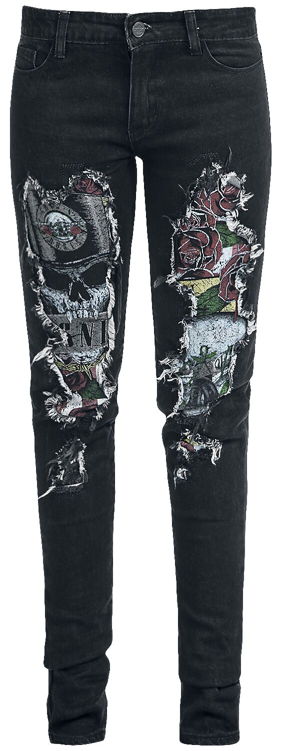 Image of   Guns N' Roses EMP Signature Collection Girlie jeans sort