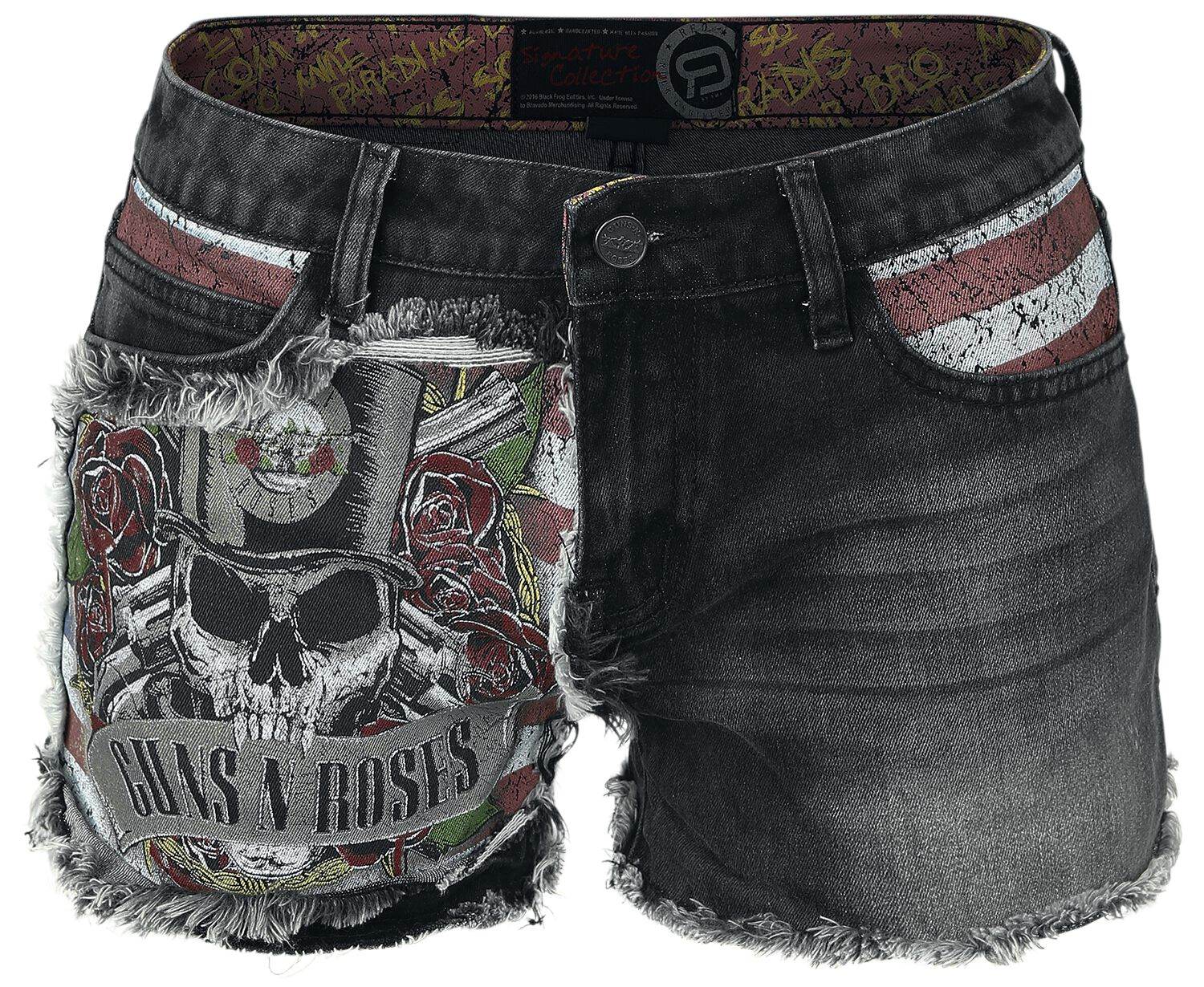 Image of   Guns N' Roses EMP Signature Collection Girlie hotpants grå