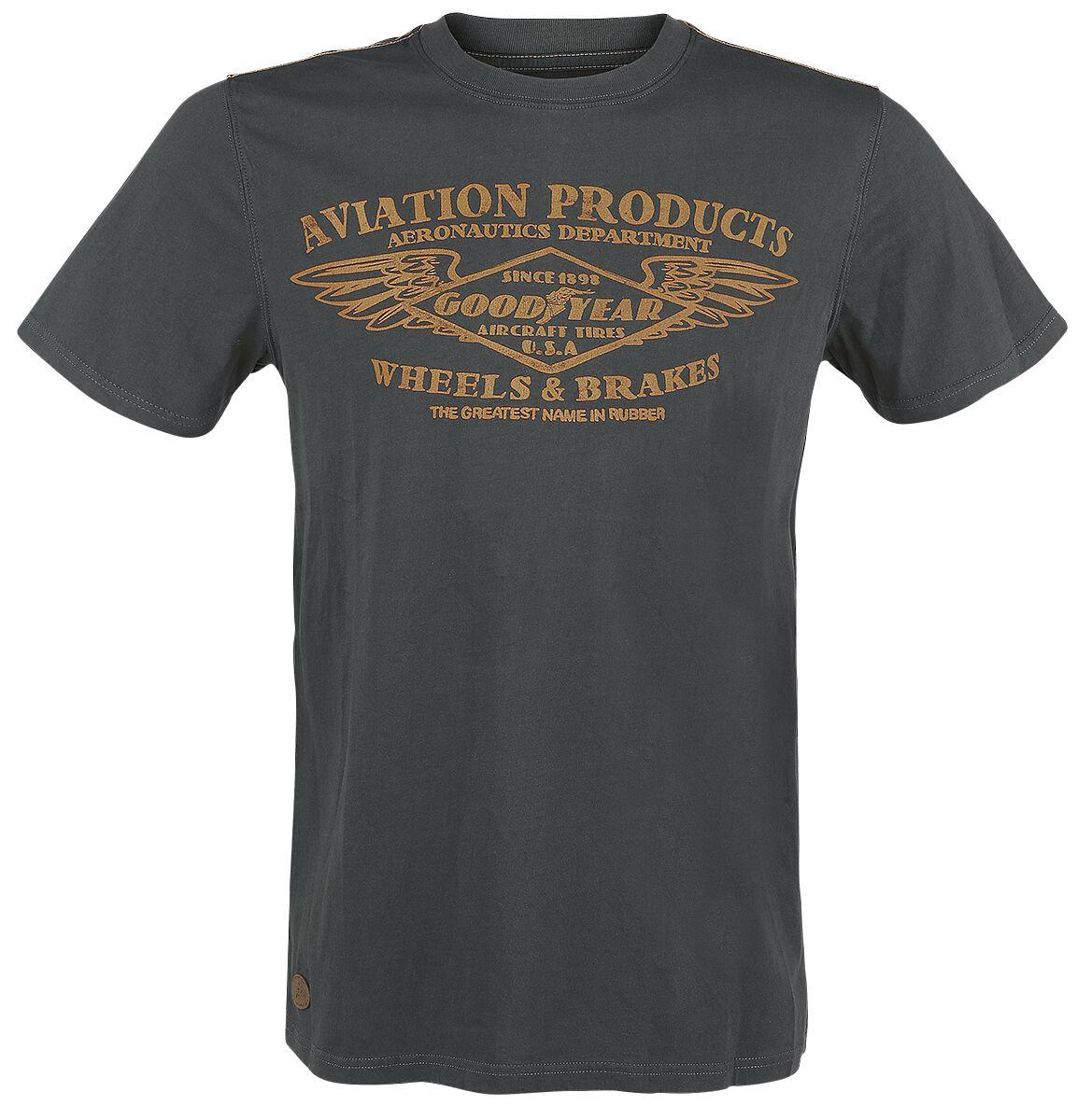 Marki - Koszulki - T-Shirt GoodYear Crawford T-Shirt ciemnoszary (Anthracite) - 338300