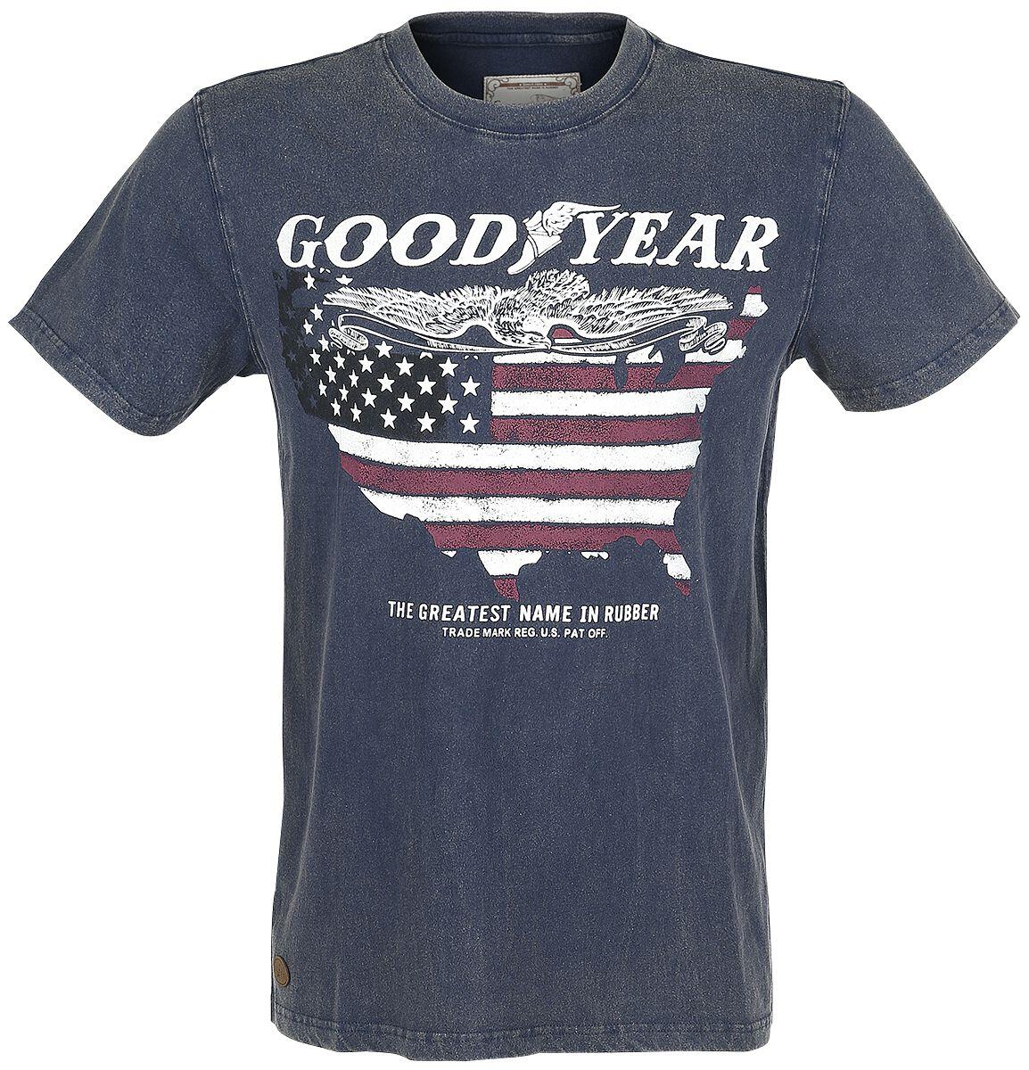 Marki - Koszulki - T-Shirt GoodYear Fowler T-Shirt granatowy - 338303
