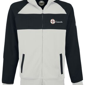 Resident Evil Men's Umbrella Operative Track Jacket - White - S - Blanc
