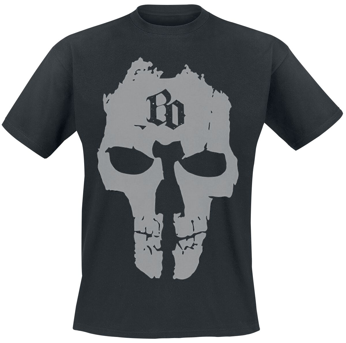 Image of   Böhse Onkelz BO Skull T-Shirt sort
