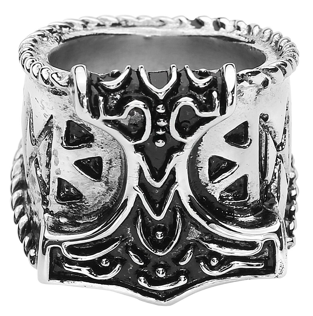 Image of   etNox hard and heavy Thor's Hammer Ring Standard
