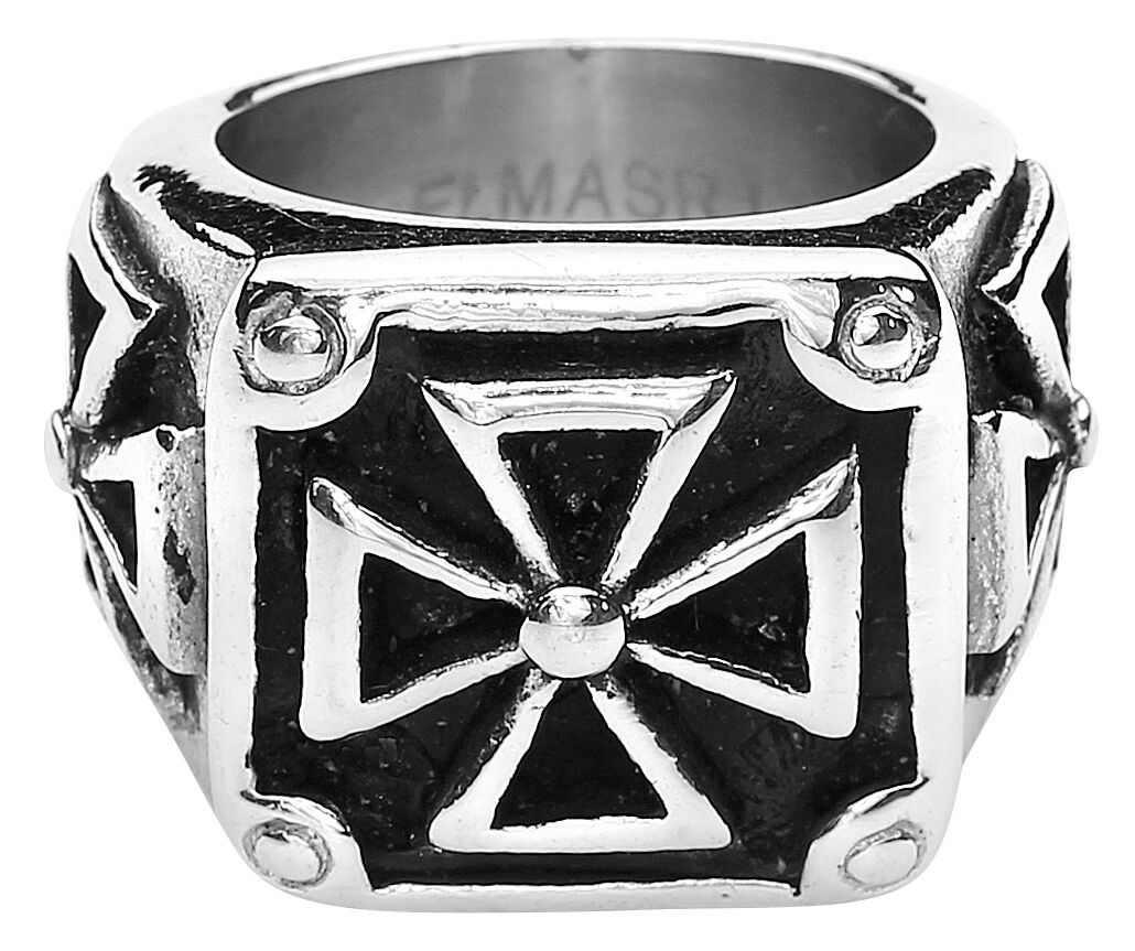 Image of   etNox hard and heavy Heavy Iron Cross Ring Standard