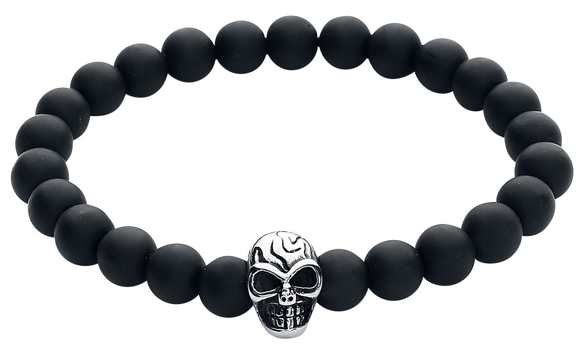 Image of   etNox hard and heavy Black Skull Armbånd Standard