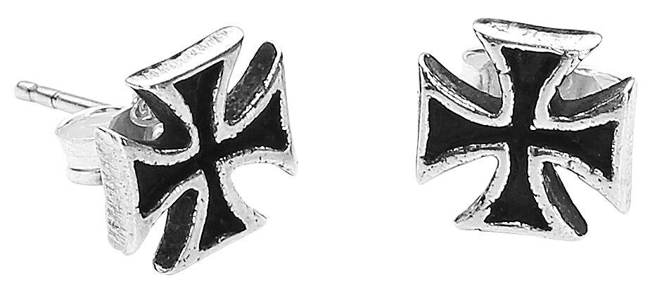 Marki - Kolczyki - Kolczyk - Earpin etNox Black Iron Cross Kolczyk - Earpin standard - 338674