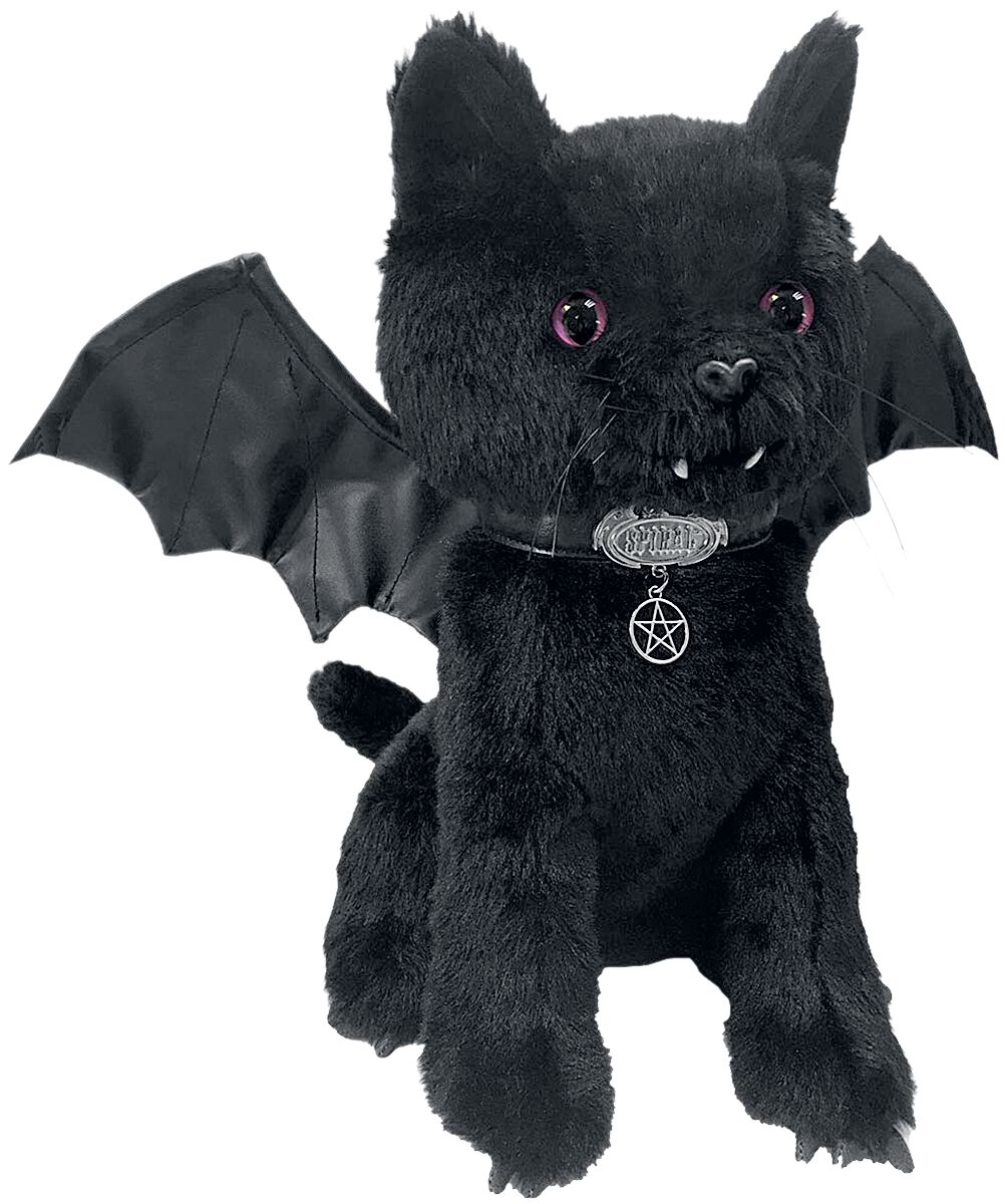 Image of   Spiral Bat Cat Plysfigur sort