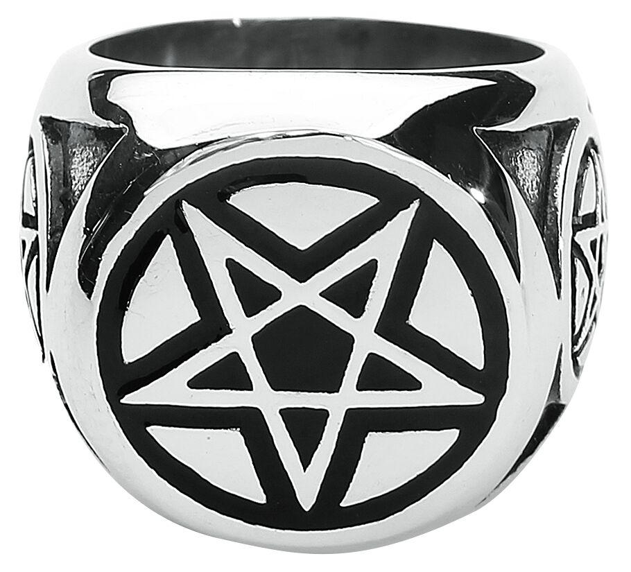 Basics - Pierścienie - Pierścień Big Pentagram Pierścień standard - 338702