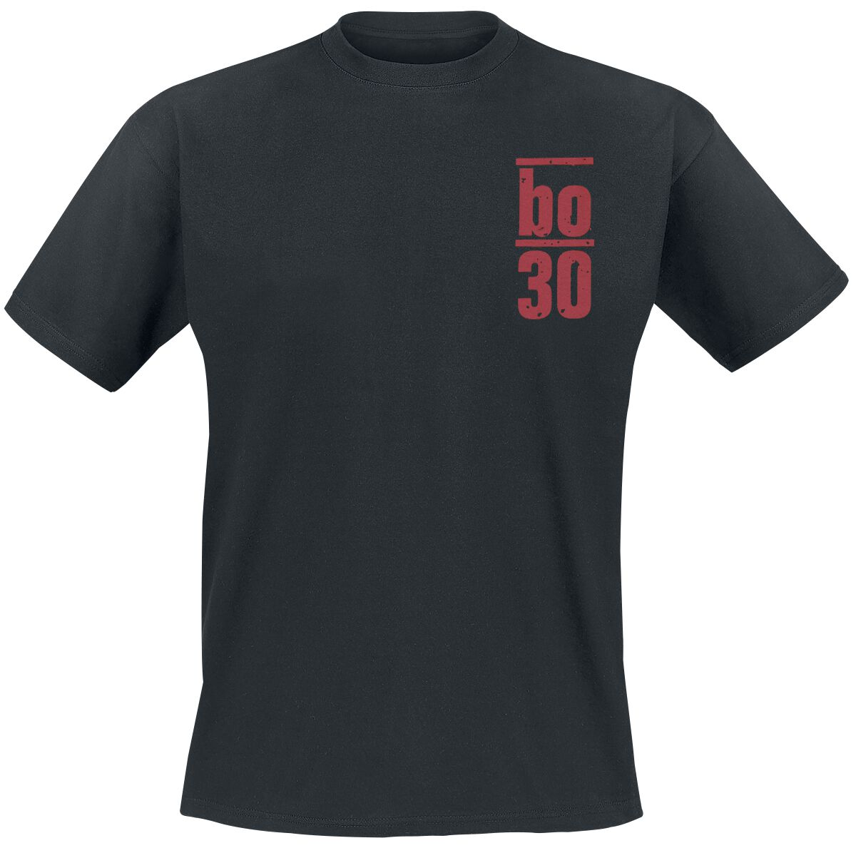 Image of   Böhse Onkelz Rückgrat 30 T-Shirt sort