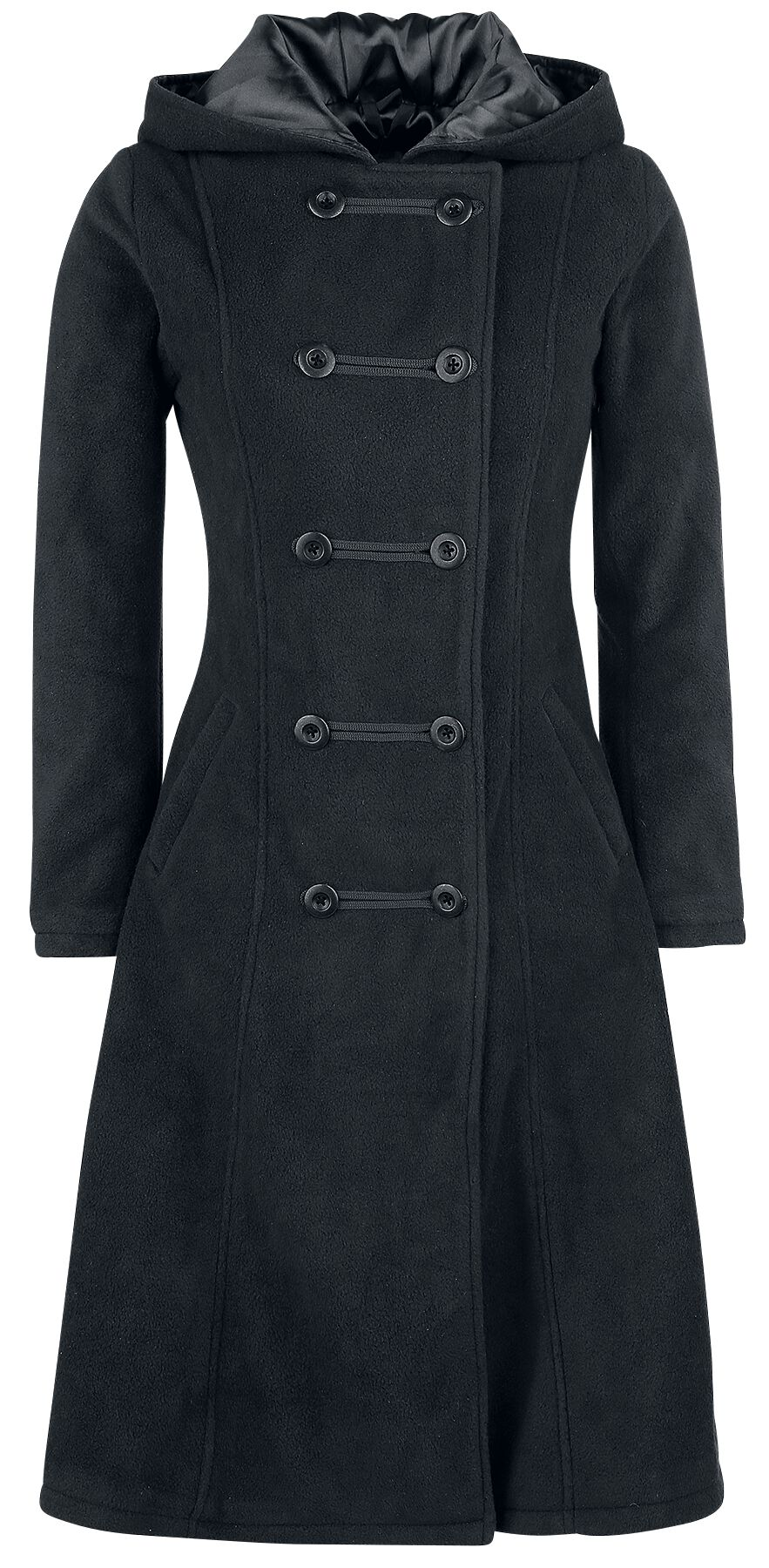Image of   Gothicana by EMP Dark Fleece Coat Girlie frakke sort