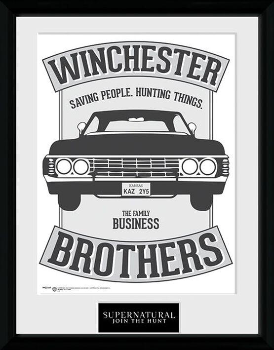 Image of   Supernatural Winchester Brothers Indrammet billede Standard