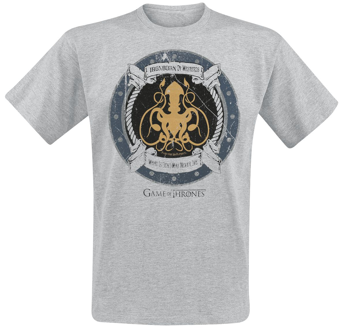 Image of   Game Of Thrones Ironborn Of Westeros T-Shirt grålig