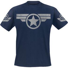 Captain America Uniforme De Super Soldat T-shirt bleu foncé