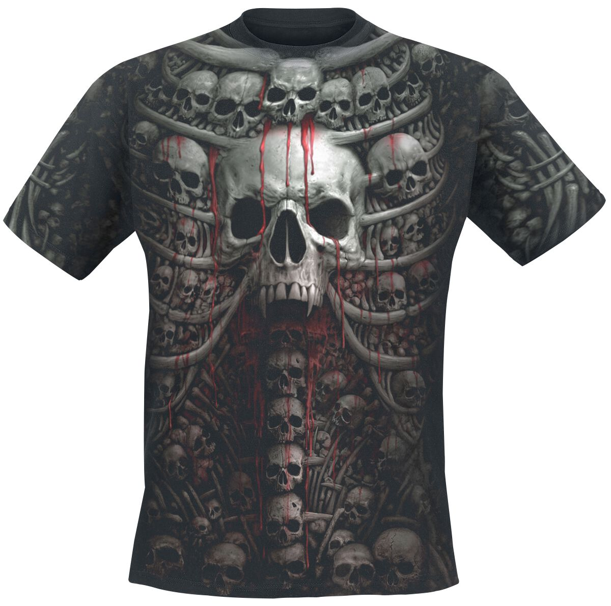 Image of   Spiral Death Ribs T-Shirt sort