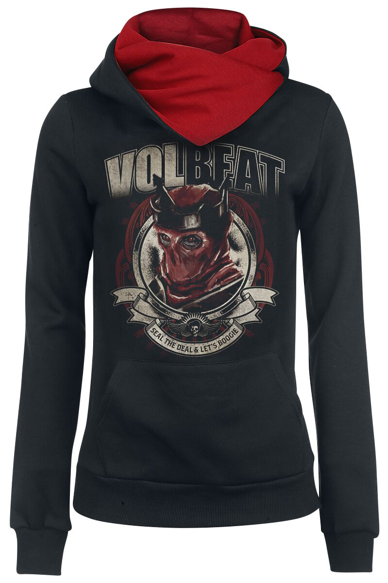 Zespoły - Bluzy z kapturem - Bluza z kapturem damska Volbeat Red King Bluza z kapturem damska czarny/czerwony - 339748