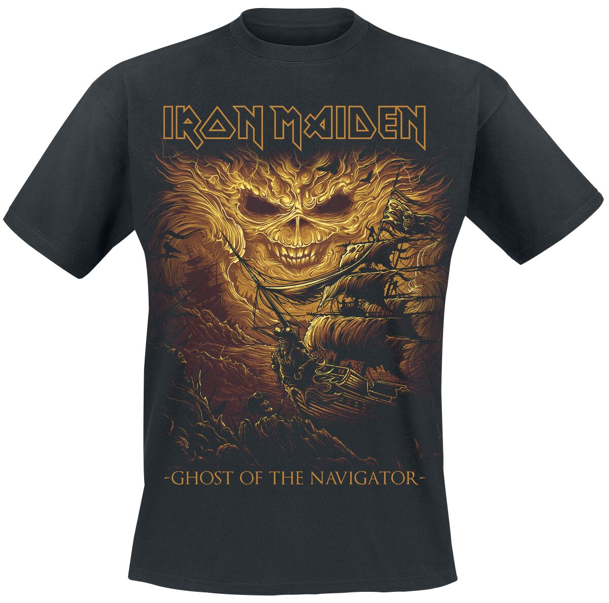 Image of   Iron Maiden Ghost Of The Navigator T-Shirt sort