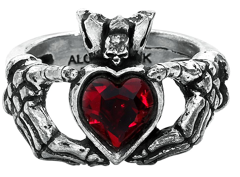 Image of   Alchemy Gothic Claddagh by Night Ring Standard