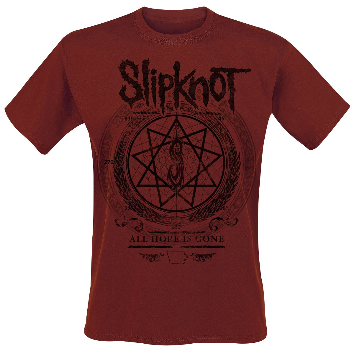 Image of   Slipknot Blurry T-Shirt mørk rød