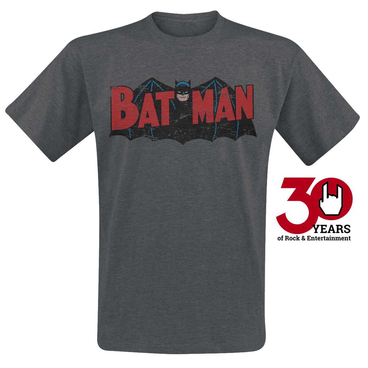 Image of   Batman Authentic Logo T-Shirt mørk grålig