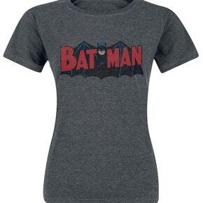 Batman Logo Original T-shirt Femme gris sombre chiné