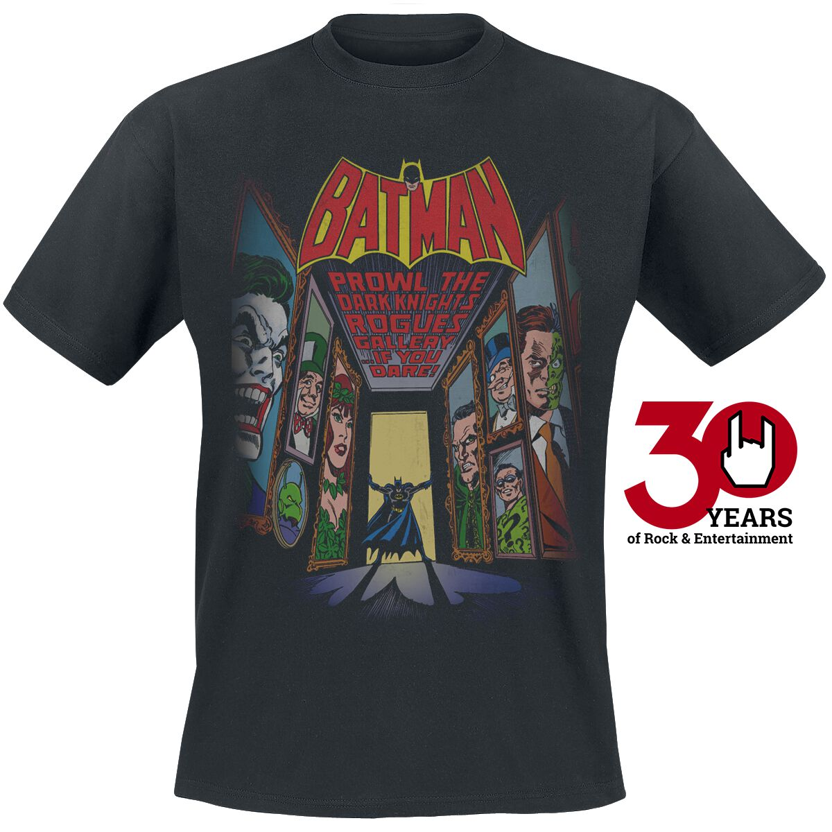 Image of   Batman Rogues Gallery T-Shirt sort