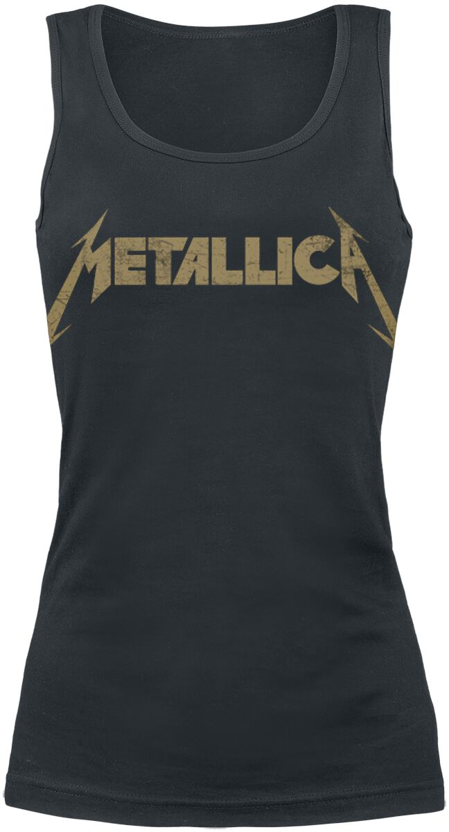 Image of   Metallica Hetfield Iron Cross Guitar Girlie top sort