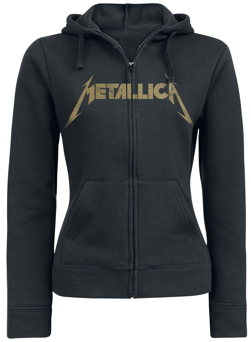 Image of   Metallica Hetfield Iron Cross Guitar Girlie hættejakke sort