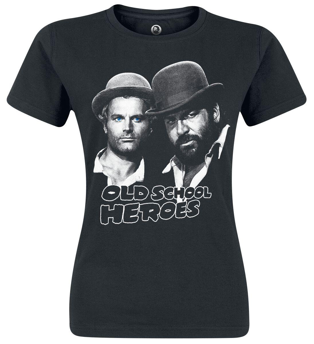 Merch dla Fanów - Koszulki - Koszulka damska Bud Spencer Oldschool Heroes Koszulka damska czarny - 340587