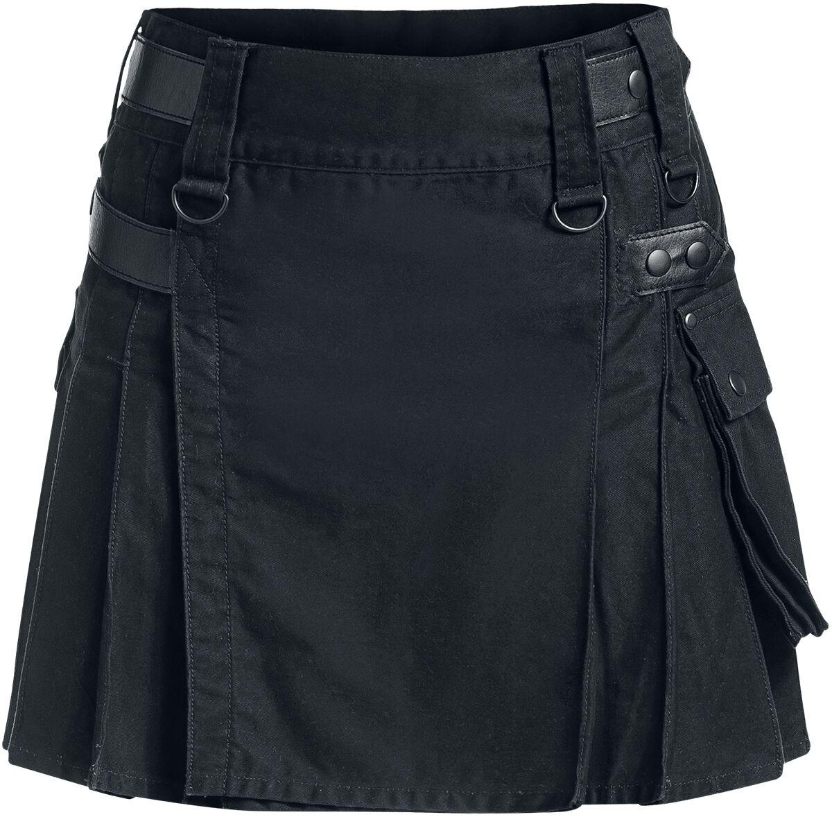 Black Premium by EMP Kilt Kilt černá Emp shop Black Premium by EMP Sukně od  Black Premium by EMP  - řemínky z imitace kůže - velké boční kapsy -  plisovaná 7d9ca3c184