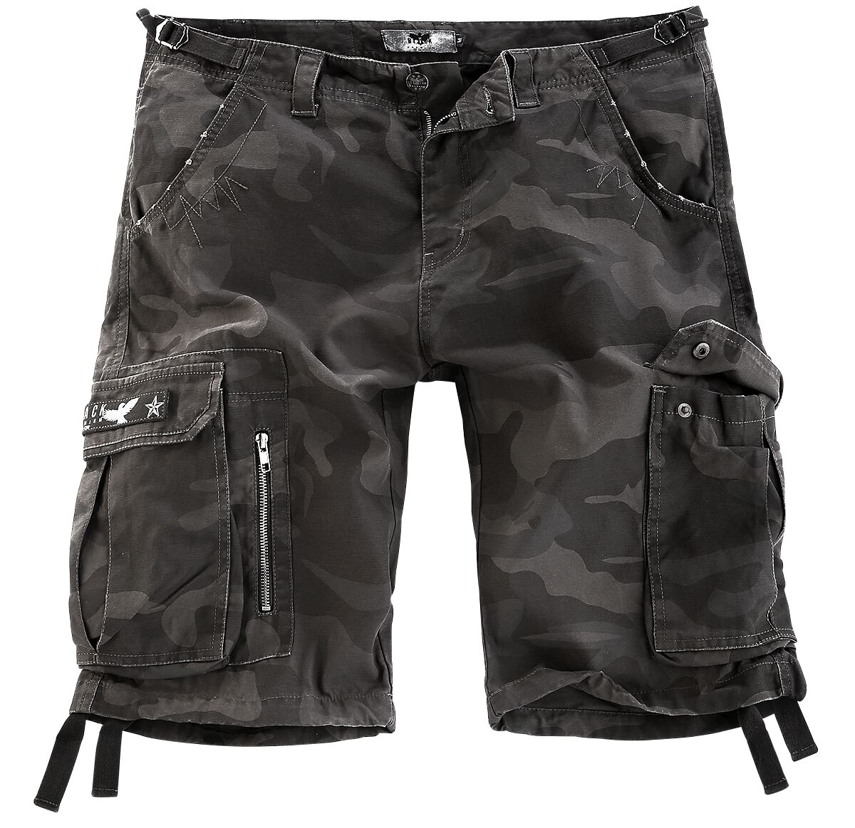 Image of   Black Premium by EMP Army Vintage Shorts Vintage shorts mørk camo