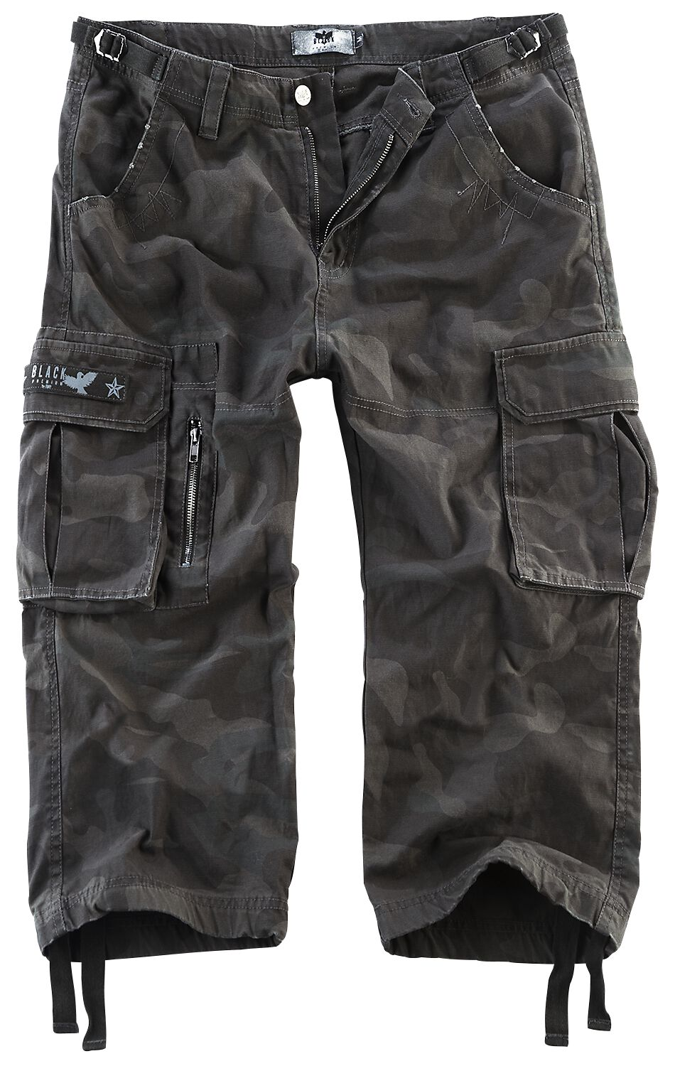 Image of   Black Premium by EMP 3/4 Army Vintage Shorts Shorts mørk camo