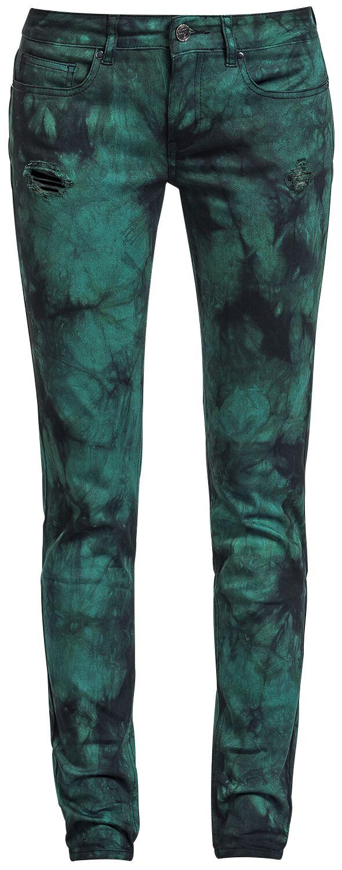 Full Volume by EMP Vicky Snow Wash (Skinny Fit) Spodnie damskie czarny/zielony