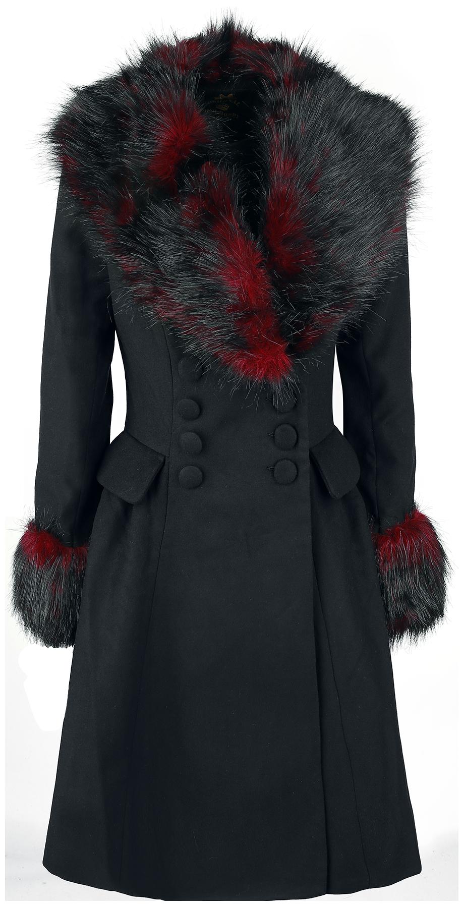 Hell Bunny Rock Noir Coat Płaszcz damski czarny