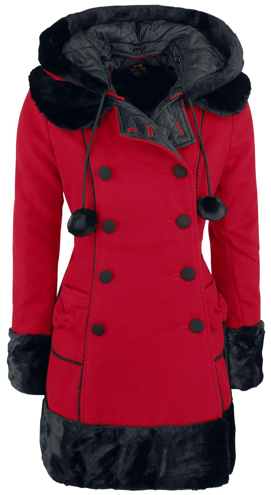 Hell Bunny Sarah Jane Coat Płaszcz damski czerwony