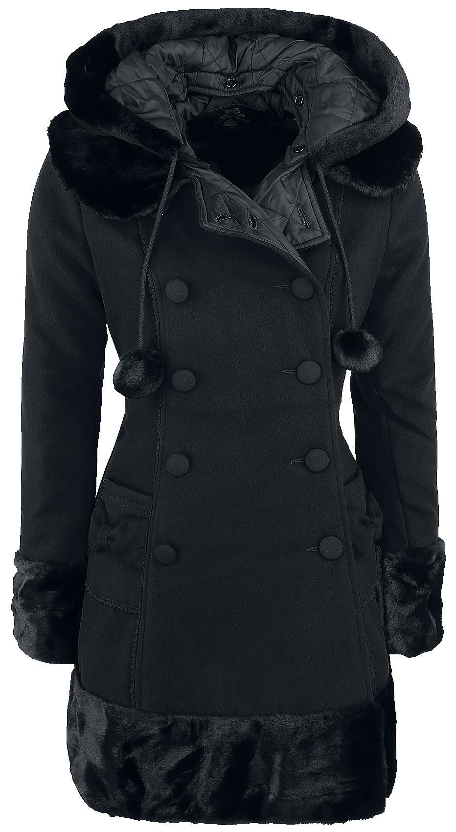Hell Bunny - Sarah Jane Coat - Girls coat - black