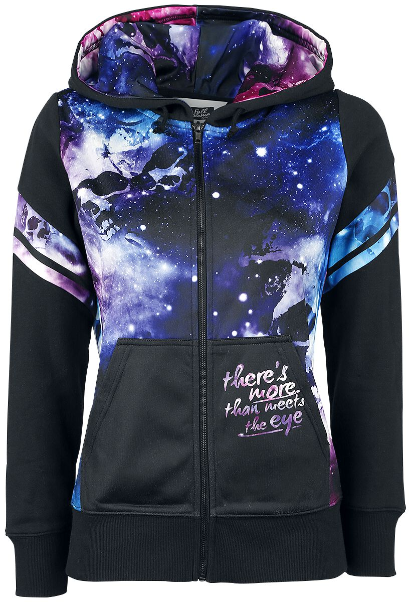 Image of   Full Volume by EMP Galaxy Hoodie Jacket Girlie hættetrøje sort