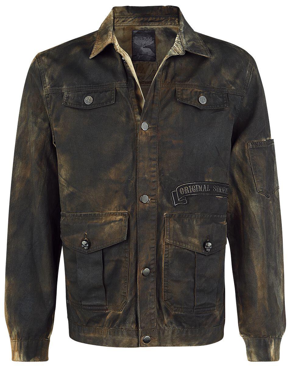Image of   Rock Rebel by EMP Dirtwash Jacket Jakke brun